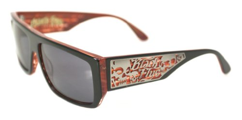 Black Flys Sci Fly 5 Sunglasses, Shiny Black and Red - Sunglasses Sci