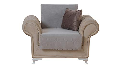 Chiara Rose Diamond Chair Slipcover 3 Cushion Sofa Cover 1 Piece Couch Furniture Protector Taupe