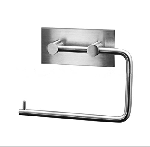 Windspeed Towel Bar Holder/Tissue Roll Hanger for Bathroom or Kitchen - Self-Adhesive - Stainless Steel