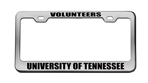 zhangjialicense Volunteers University of Tennessee License Plate Frame Car Tag Frame Auto License Plate Holder Screws and 2 Holes