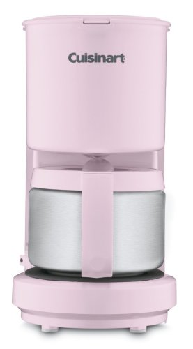 Cuisinart DCC-450PK 4-Cup Coffeemaker with Stainless Steel Carafe (Pink) (Cuisinart Two Cup Coffee Maker compare prices)
