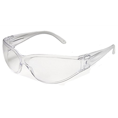 Galeton 11844 Brace Anti-Fog Anti-Scratch Wrap-Around Lens Safety Glasses Clear