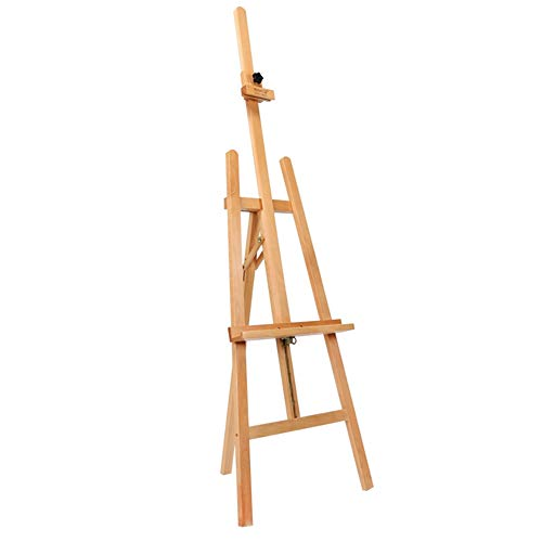 Easels YY Studio Beech A-Frame Artist Art Craft, Display Exhibition for Drawing Painting Holder- Easy to Assemble Log Color from Easels