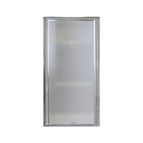 Sterling 1500D-42S Vista Pivot II Shower Door, Silver with Pebbled Glass Texture