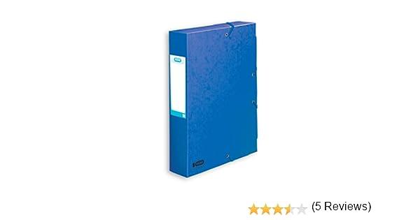 Elba Boston Box Archivo cartón prensado elástico 60mm Capacidad A4 Azul Ref M10251503: Amazon.es: Oficina y papelería