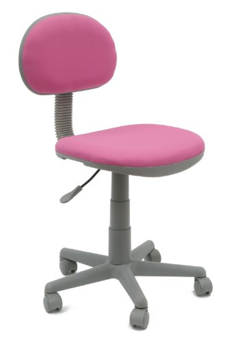 Calico Designs Deluxe Task Chair in Pink with Gray Base 18510 by Calico Designs