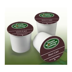 Green Mountain Products Half-Caff, 24-Count K-cups for Ke...