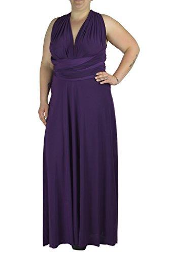 Von Vonni Transformer/Infinity Dress Plus Size XL-3X sizes (2X, eggplant) (Transformers Dress)