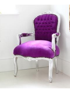 Gorgeous Royal Purple Velvet Armchair