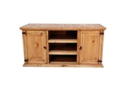 Rustic TV Stand Real Wood Western 60u0026quot; Flat Screen Console