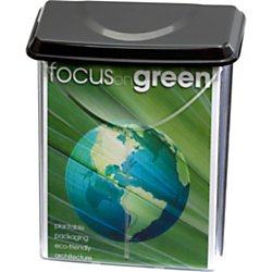 """Officemate Outdoor Literature Holder, Holds 8 ½"""" x 11"""" Letter Size, Clear with Black Lid (23020)"""