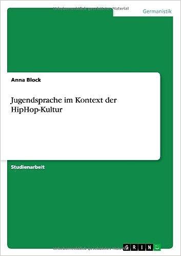 Book Jugendsprache im Kontext der HipHop-Kultur