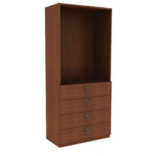 Mor-Medical International BC-Class 8 BARCELONA Collection, Wardrobe 0 Doors/4 Drawers, 72'' Height, 34'' Width by Mor-Medical International