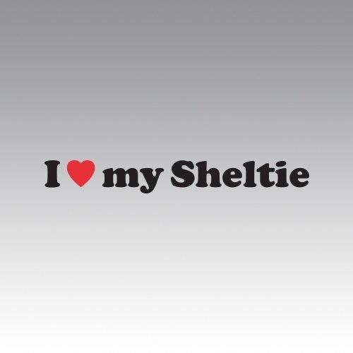 RDW I Love My Sheltie Sticker -