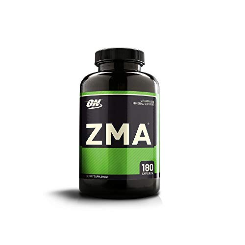 Optimum Nutrition ZMA Muscle Recovery and Endurance Supplement for Men and Women, 2 Pack(180 Capsules)