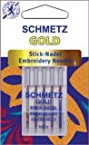 Euro-Notions - Gold Embroidery Machine Needles-Size 11/75 5/Pkg