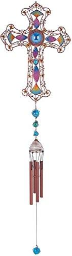 Cheap StealStreet SS-G-99904 Wind Chime Copper & Gem Cross Hanging Garden Decoration Collection