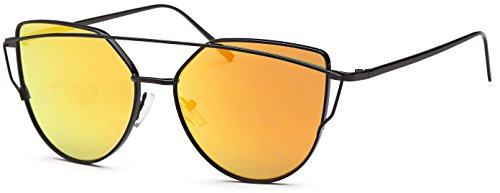 Mia Nova Mirrored Sunglasses   Metal Frame   Flat Lens   CatEye - Sunglasses Nova