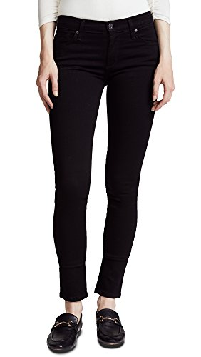 James Jeans Women's Twiggy 5 Pocket Skinny Jeans, Black Clean, 23