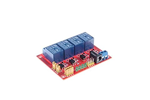 KNACRO DC 24V 4-Channel Relay Module Optocoupler Isolation High-Low Level Trigger Optional for SCM Expansion Board TTL PLC - Four Channel Module