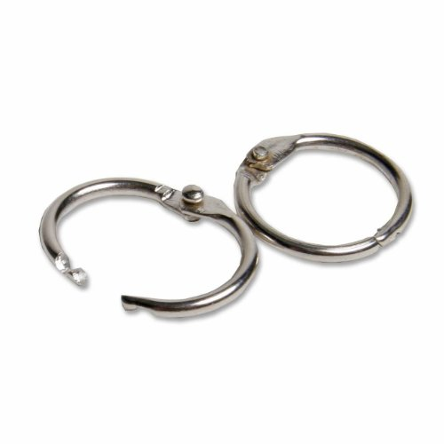 e Leaf Rings with Snap Closure, Nickel Plated, 0.50 Inch Diameter, Silver, 100-Pack (R09) ()