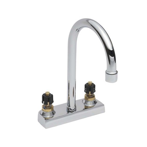 delicate American Standard 7400.00.002 Heritage Centerset Gooseneck Lavatory Faucet, Less Handles, Polished Chrome (Handles Not Included)