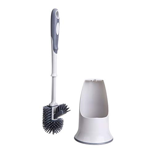 Toilet Brush Set,Toilet Bowl Brush and Holder for Bathroom Toilet - White