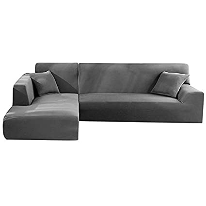 Amazon.com: Loouer L Shape Couch Cover Universal One-Piece ...
