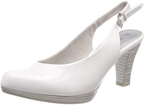 Damen 2 2 29601 22 Slingback Pumps, (White Patent 123)