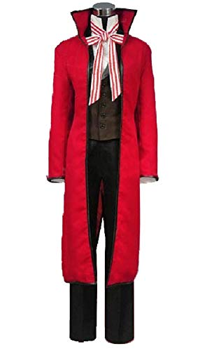 Yi Fang Anime Black Butler Grell Sutcliff Gothic Uniform Cosplay Costume Halloween Carnival Role Cos Suit (Woman-Custom Size, A) -