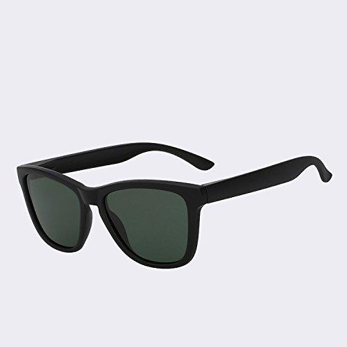clásico400 w black G15 sol gafas hombres Vintage gafas de de polarizadas de Gafas Matte plata sol Los TIANLIANG04 lentes espejo de UV de espejo lentes hombre qwZCgSAn4