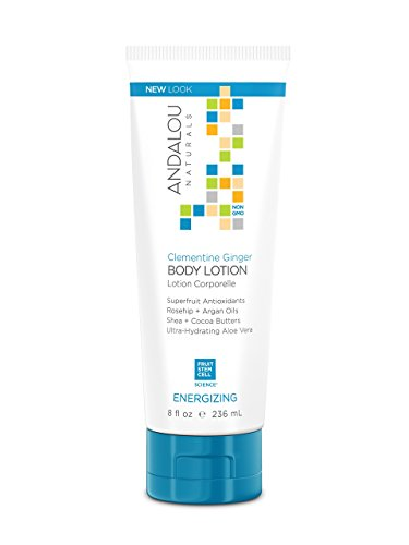 Andalou Naturals Clementine Ginger Energizing Body Lotion, 8 Ounce Tube