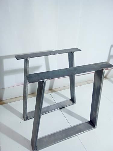 Tavolo Legno Grezzo Gambe Ferro.1 Coppia Gambe Per Tavolo Ferro Grezzo Steel Legs Amazon It