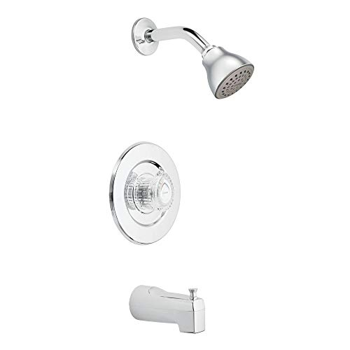 Moen T471 Chateau Single Handle Tub and Shower Trim with Single Function Showerhead, ()