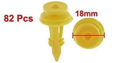 Amazon.com: eDealMax 82pcs plástico Amarillo ajuste de la puerta de retención DE 32 mm de Largo: Automotive