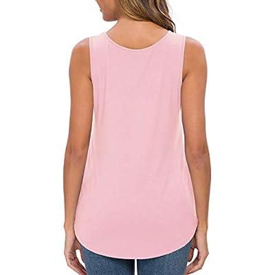 Feiersi Women's Sleeveless Criss Cross Casual Tank Tops Basic Blouse at Women's Clothing store