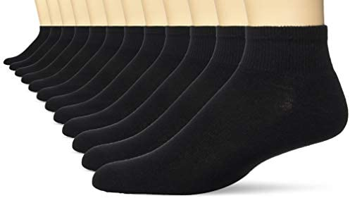 Hanes Mens FreshIQ Odor Control Active Cool Ankle Socks