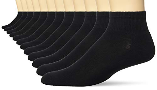 Spandex Nylon Socks Ankle - Hanes Men's FreshIQ X-Temp Active Cool Ankle Socks, 12-Pack, Black, Size: 10-13, Shoe Size: 6-12