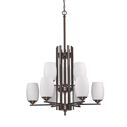 Acclaim Lighting IN11233ORB Sophia Indoor 9-Light Chandelier with Glass Shades, 2 28