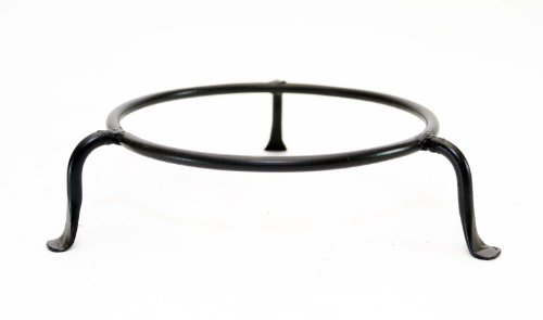 Iron Ball Wrought - BASIC WROUGHT IRON DISPLAY RING STAND -5.5 INCHES DIAMETER