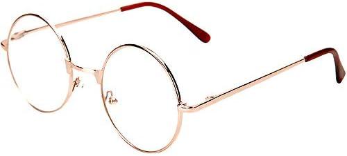 レトロな中立老眼鏡Blu-rayブロッキング丸眼鏡、防眩保護、疲労防止、UV防止メガネ+1.0