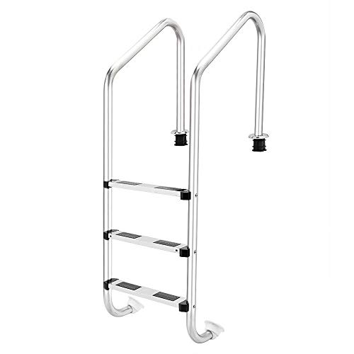 - Moon Daughter Pedal Three Step Pool Ladder In Ground Standard Pools Stainless Steel/w Legs Swimming