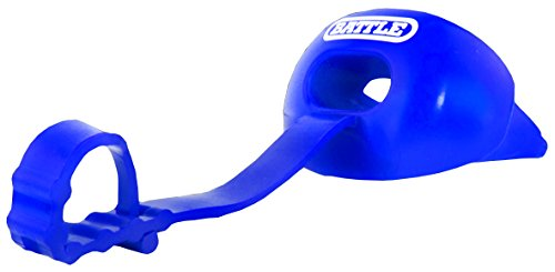 (Battle Oxygen Lip Protector Mouthguard with Connected Strap, Royal Blue)