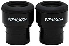 Field of View 24mm High Eyepoint Adjustable Diopter PZ04013221 Reticle Mount Size 27mm BoliOptics WF 10X Widefield Focusable Plan Microscope Eyepieces Mounting Size 30mm Pair