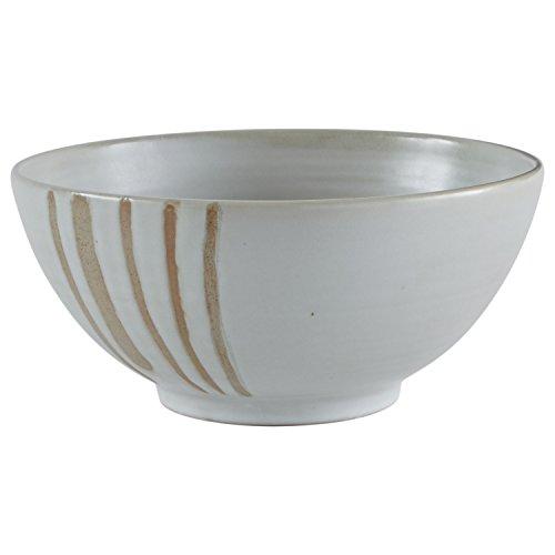 Stone & Beam Modern Stoneware Decorative Bowl Decor, 4.9 Inch Height, Beige