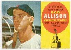 1960 Topps Regular (Baseball) Card# 320 bob allison of the Washington Senators Ex Condition ()