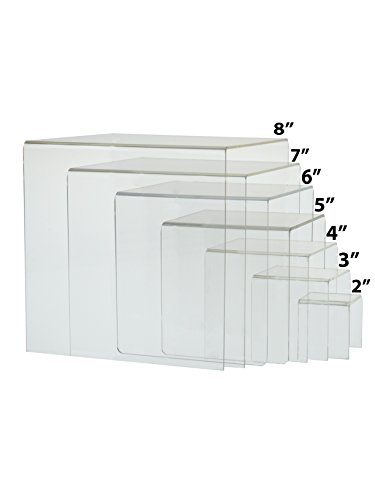 Marketing Holders Cube Counter Top Riser Full Set of 7 by Marketing Holders
