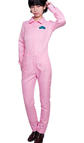[ROLECOS Womens Candy Color Long Sleeves Overall Jumpsuits Pink Asian Size M] (Halloween Costume Wearing Overalls)