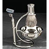 Bey Berk Silver Shaving Set