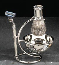 - Bey Berk Silver Shaving Set